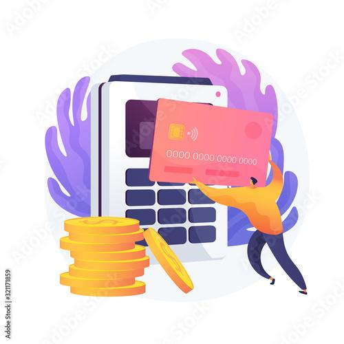 Financial transactions, money operations Tableau sur Toile