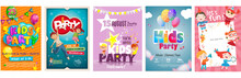 Vector Kids Party Poster Desig...