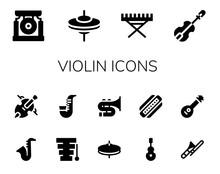 Violin Icon Set