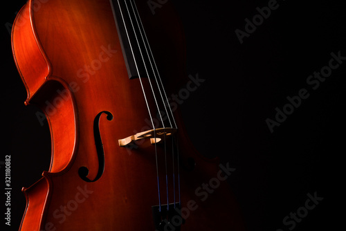 Cello isolated on black background Fototapete