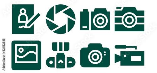 Obraz photographic icon set - fototapety do salonu