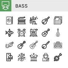 Set Of Bass Icons