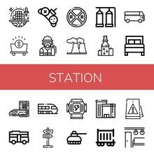 Set Of Station Icons