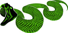 Decortative Tattoo Element Green Snake Transparant Background