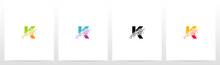 Eroded Particle On Letter Logo Design K