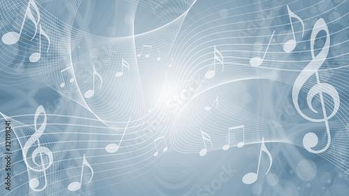 音符による音楽のイメージ背景 - 321198241
