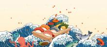 Sashimi On Giant Wave Tides