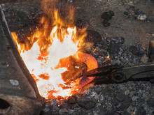 Heating Of Horse Hooves In Small Forge
