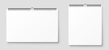 Realistic Blank Wall Calendar....