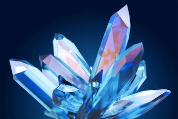Beautiful blue clear crystal