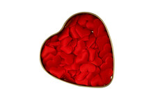 Red Hearts Isolated On White B...