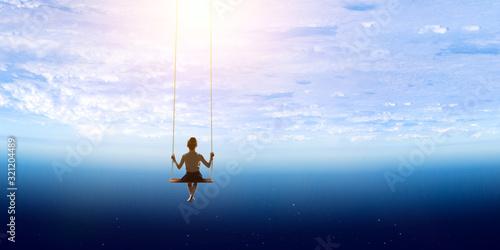 Obraz Childish sweet dreams . Mixed media - fototapety do salonu