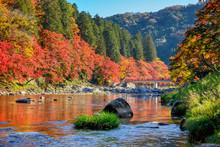 Korankei Valley In Autumn The ...