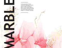 Pink Marble Template, Abstract...