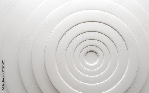 white ring tube structure background texture spiral illustration 3d render illustration