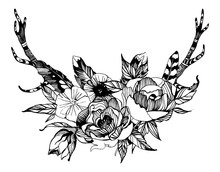 Bohemian Style Flowers. Roses ...