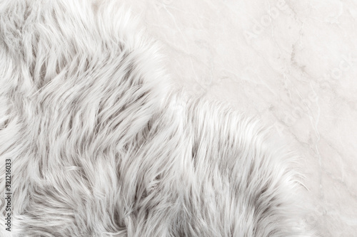 White fur for background or texture Fototapete