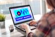 Target market concept on a laptop screen