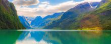 Norwegian Landscape Banner Wit...