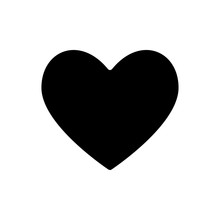 Black Heart Shape Isolated On A White Background. EPS10 Vector File