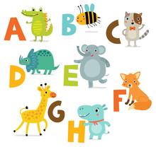Children's Alphabet With Cute ...