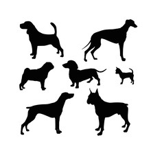 Dog Silhouettes Collection