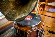 An Old Gramophone, A Turntable...