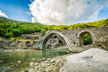 Old Ottoman Bridge With Therma...