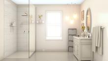 Modern Pale Cream Bathroom Int...