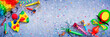 Leinwanddruck Bild - Carnival Or Birthday Background - Colorful Party