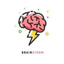 Brainstorm Vector Icon Idea. B...