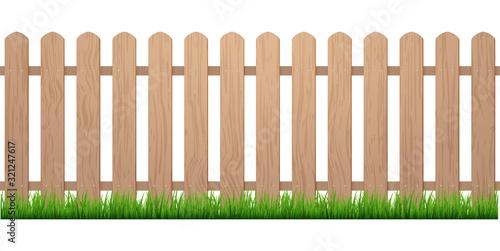 Fotografía Fence with grass