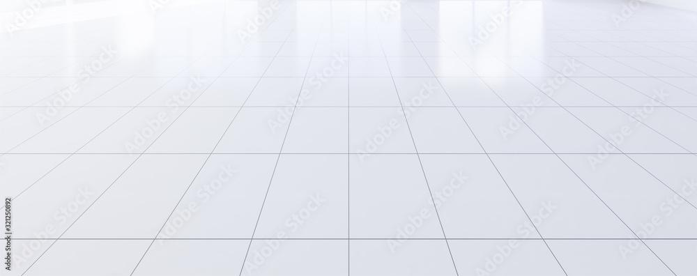 empty room and tile floor