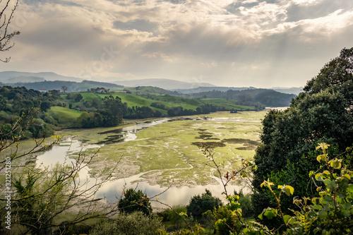 Fotomural Marshes of San Vicente in San Vicente de la Barquera, Cantabria, Spain