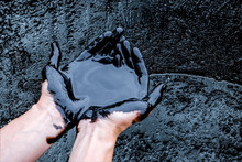 Crude Oil Surface Background T...