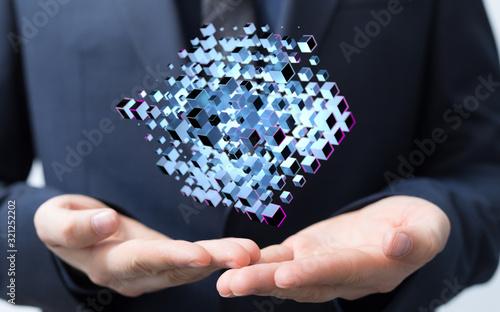 Fototapeta Cloud storage and Computing concept. obraz