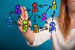 Leinwanddruck Bild - group of people talking in social network.