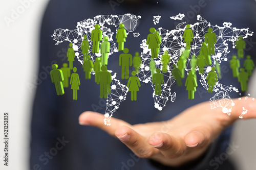 Fototapeta Structure of world economy, communication network.. obraz
