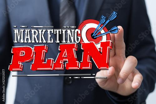 Fototapeta Marketing And Communication Success Concept dart. obraz