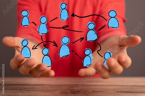 Fototapeta Unity group and teamwork concept. obraz
