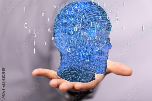 Fototapeta Mind, brain power and energy concept. obraz