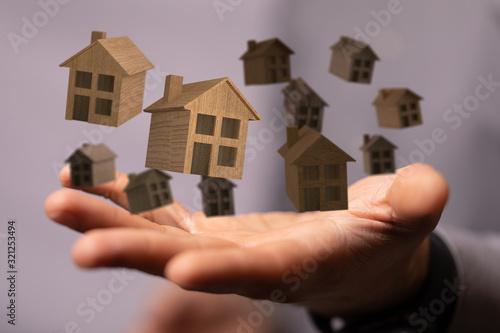 Fototapeta Real Estate Agent house hand concept. obraz