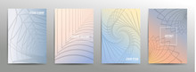 Set Of Four Abstract Looped Pa...