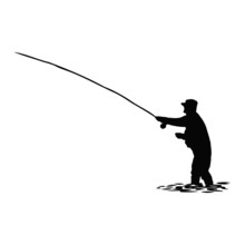 Fisherman With A Fishing Rod I...