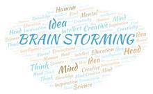 Brain Storming Word Cloud.