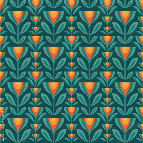 Photo Flowers leaves vector background