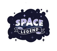 Space Legend Lettering Isolate...