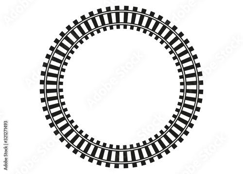 Obraz Modelleisenbahn Rahmen Schienennetz - fototapety do salonu