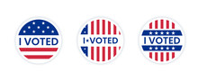 I Voted Sticker With Us Americ...