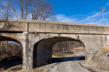 Old Rural Railroad Bridge With...